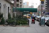 Sidewalk Scene - Downtown View