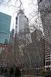 Bank of America Tower & Street View from Bryant Park