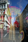Las Vegas in Greenwich Village - NY Costume Window with Street Reflections