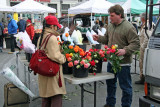 Farmers Market - Selling Roses
