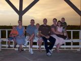 Aaron, Trish, kids, Dad, sister, and nephew
