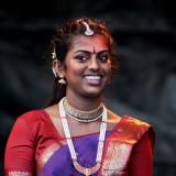 Young indian temple dancer from Tamil Mantram e.V., Frankfurt