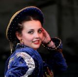 Beautiful bolivian dancer from Puerta del Sol, Frankfurt