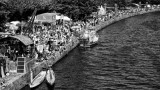 Part of the festival embankment with crowds of visiters