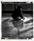 Little artist...