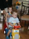 Hitching a ride with cousin Reid