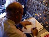 The Flight Engineer writing the Log - 799.JPG