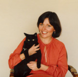 With Spook the cat