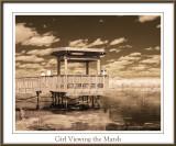 Girl Viewing the Marsh