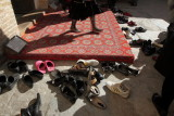 Shoes off in Khiva!