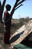 Makeshift Masai teacher