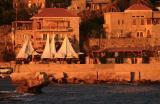 Byblos in evening sunlight