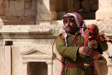 A Scottish instrument, played by a Jordanian, amongst Roman ruins