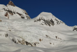 Views from Bishop glacier of Garibaldi and the tent
