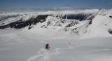 Turns down the Warren Glacier