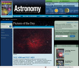 NGC 6280 and NGC 6823 Picture of the Day in Astronomy Magazine's Web Site - August 24, 2009