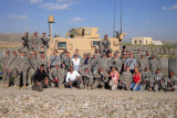 Soldiers and USO celebrities