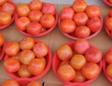 Persimmons sold on the street