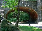 One of the many bridges in Central park.