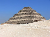 The Step Pyramid at Sakkara.  This one was built for King Djoser and is the oldest known pyramid in Egypt