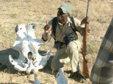 Our Guide Lawrence with Elephant Skull, on a Game/Nature Walk