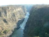 The Zambezi River Below the Falls