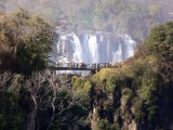 The Falls as Seen from the Zambia Side of the Bridge