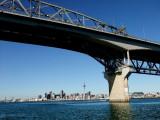 The Auckland Harbor Bridge and City Skyline