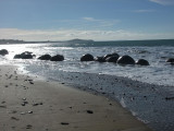 The Moeraki Boulders on the Coast About an Hour North of Dunedin