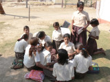 At a Local School in Rajasthan Sponsored by Grand Circle Foundation