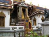 Phra Kaew is an architectural wonder of gleaming jehdii (stupas) seemingly buoyed above the ground,