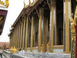 The highly stylized ornamentation is a shrine to the Emerald Buddha,