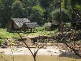 we cross the river again to get to this elephant camp and for some lunch