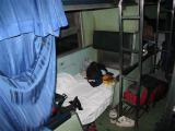 my bunk (on the bottom this time)  off the train at 6:30 am, got a taxi to the hotel