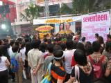 this is a seventeen magazine sponsered event with a Thai movie star being intervied