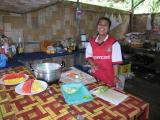 the kitchen at the floating raft houses