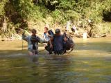 crossing the river (and getting wet)