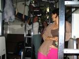 getting ready for bed (on the overnight train from Bangkok to Chiang Mai