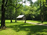 George Washington Carter Shields lived in his Cades Cove cabin from 1910 through 1921.