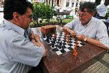 Playing chess on the plaza in Santa Cruz, Bolivia