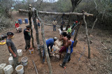 Drilling a Water Well at the CREA drug rehab farm in Pailon, Bolivia, September 2009