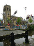 Holy Trinity Church and the new sun dial in Stalybridge