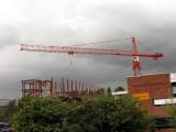 Men at work on a crane in Stalybridge