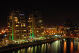 SALFORD QUAYS AT NIGHT
