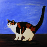 Black and Ginger Cat painted in acrylics on canvas £4.99 for a 8 x 10 inch photo print