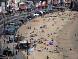 Gathering of crowds of people on Scarborough beach on Armed Forces Day