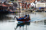 Boat on harbour at Scarborough