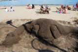 Dino sand model on Scarborough beach