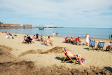 Sun Bathers on Scarborough beach