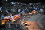 Nightime view of sea front in Scarborough